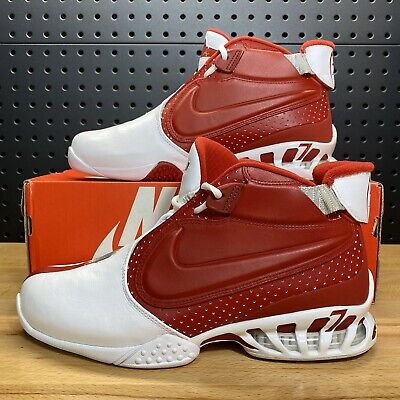 Nike Air Zoom Vick II 2 Trainers White Varsity Red 599446-101 Men's Size 9.5