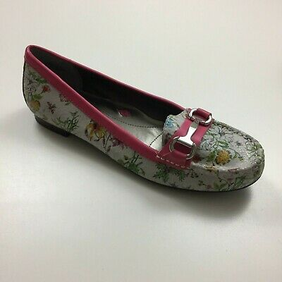 NEW ROS HOMMERSON Womens Sz 12N REGINA Floral Premium Leather Loafers -