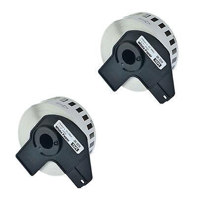 2 Roll Dk-2210 Labels For Brother Ql-570 Ql-1050 W2 Premium Permanent Core