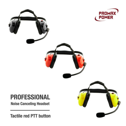 Premium Professional Noise Canceling Dual Muff Racing Headset (No Cable)
