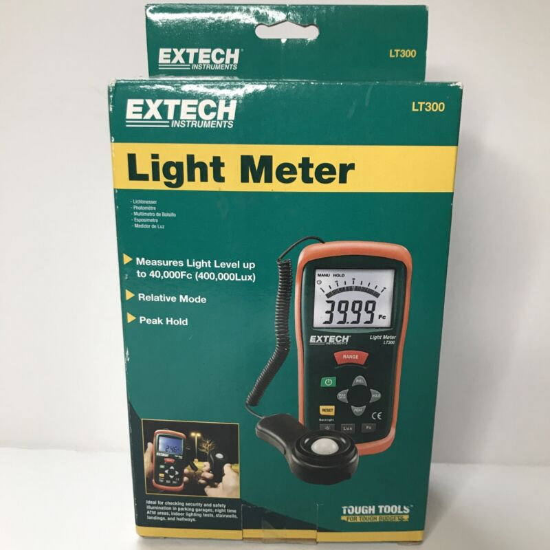 Extech LT300 Light Meter with Digital and Analog Display (B4) Sealed