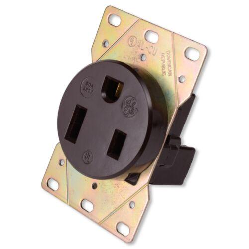 GENERAL ELECTRIC NEMA 6-50R 50 Amp 250 Volt 2 Pole 3 Wire Stove Receptacle