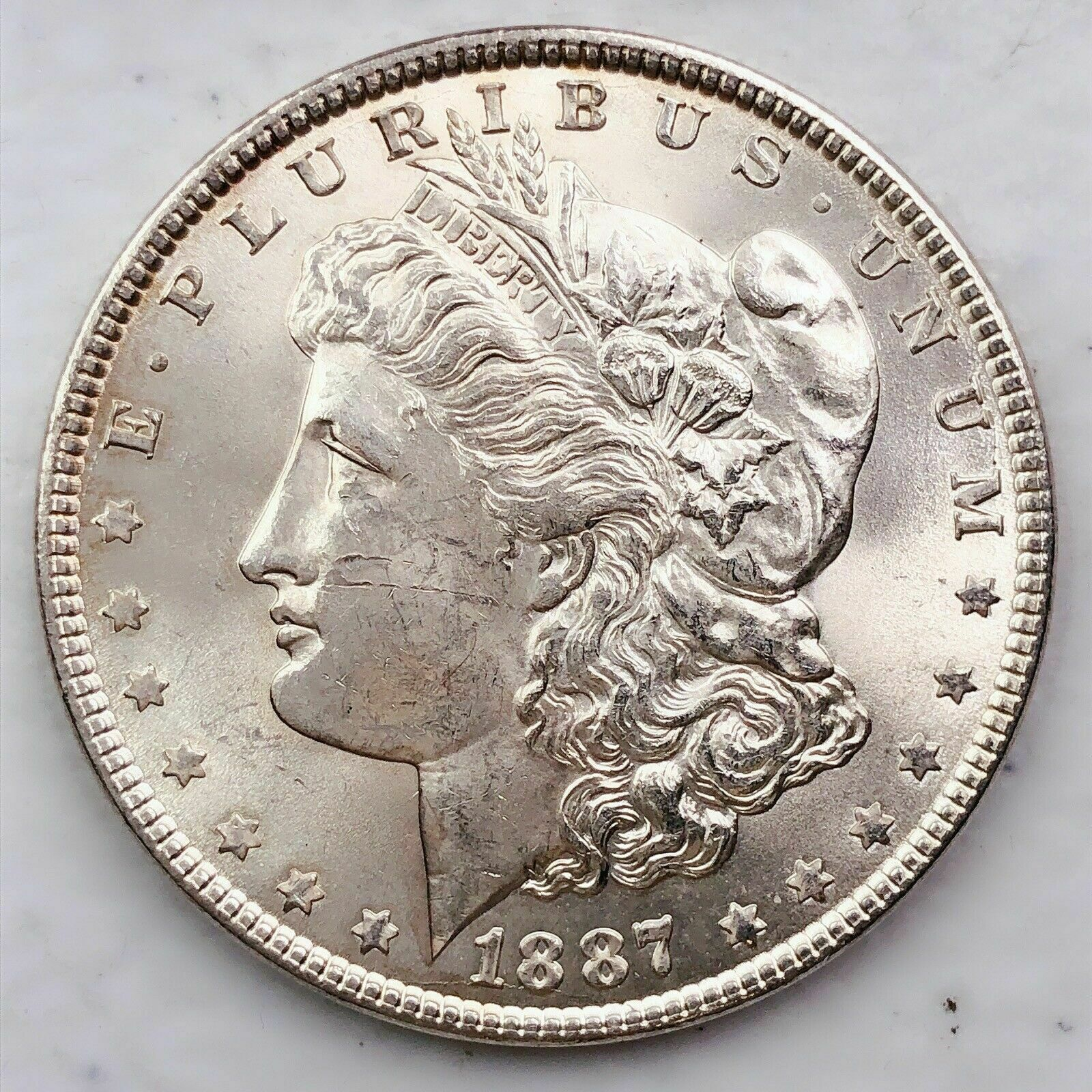 1887 Morgan Silver Dollar Gem BU Free Shipping 1015 - $17.50
