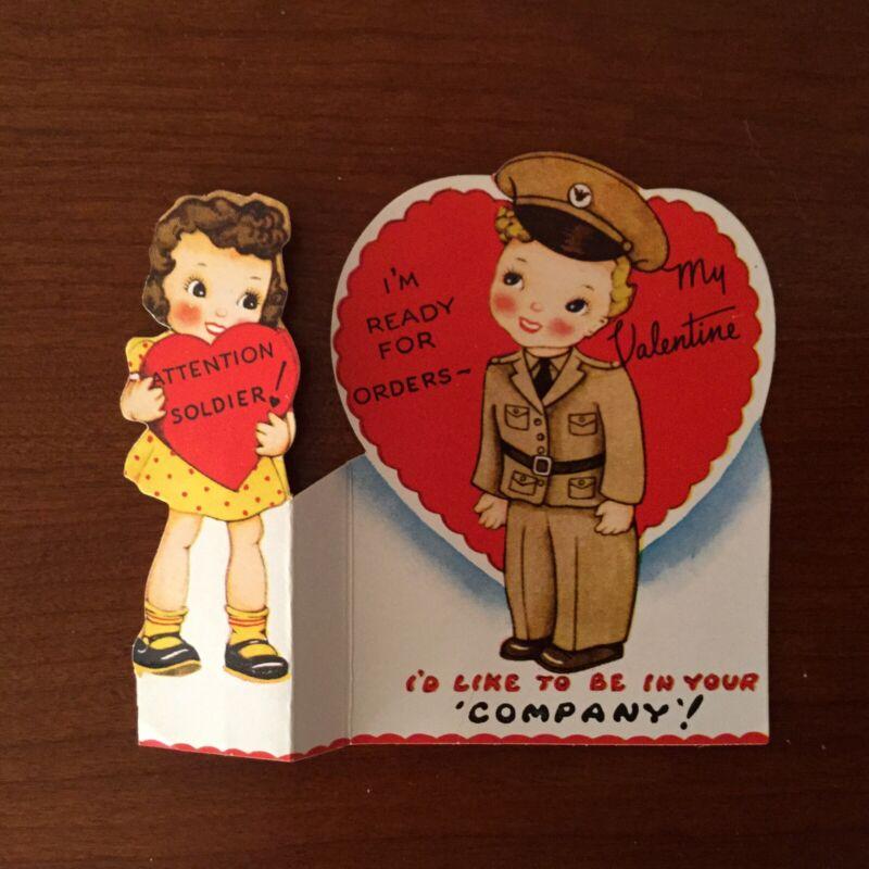 Vintage Valentine Soldier Boy Nice Condition