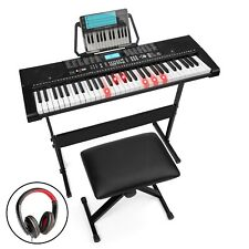 BCP 61-Key Beginners Electronic Keyboard Piano Set w/ Lighted Keys, Headphones