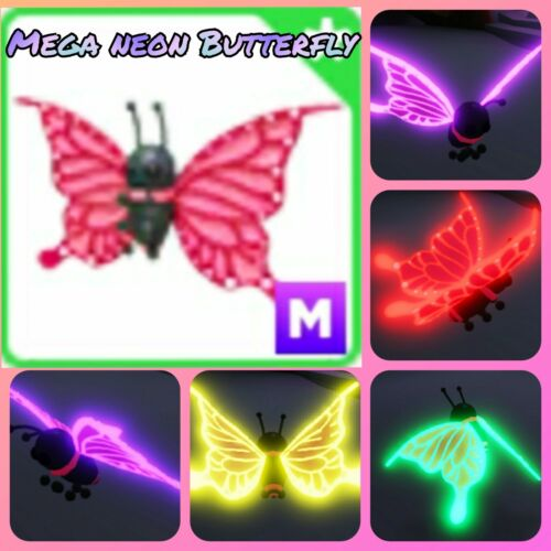 Mega neon 2021 uplift Butterfly - limited pet in the game Adopt me! in Roblox
