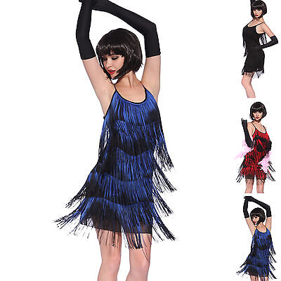 Vintage 1920s gatsby Look Flapper Swing Fringe Cocktail Party Evening Dress
