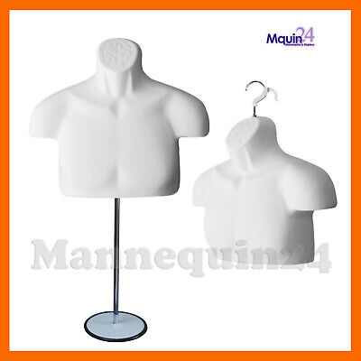 New Male Mannequin Form Standtorso Men Display Trade Show Pant T-shirt -whit