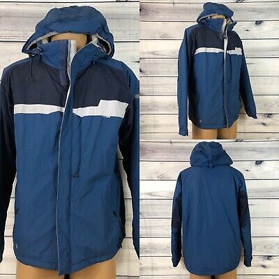 Columbia Convert Waterproof Breathable Lined Snowboarding Mens Blue Jacket L
