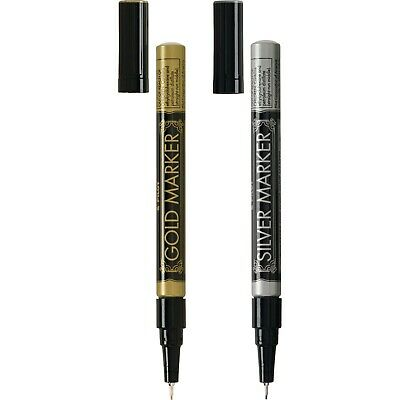 New Pilot Permanent Paint Markers Gold Silver Metallic - Extra Fine Point