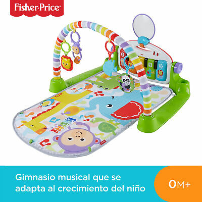Fisher-Price Gimnasio Piano Pataditas superaprendizaje, manta de juego para b...