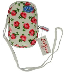 Cath-Kidston-Gadget-Case-lanyard-Button-Rose-white-100-authentic-BNWT