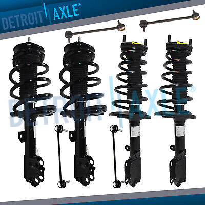 For 2007 2008 2009-2011 Toyota Camry Front Rear Struts w/Spring + Sway Bar -
