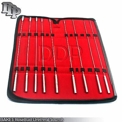 Bakes Rosebud Urethral Sounds Dilator 9 Pcs Set Surgical Ddp Instruments