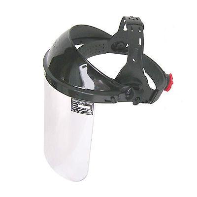 Clear Adjustable Safety Flip Up Face Shield Visor Mask Headgear F-62an