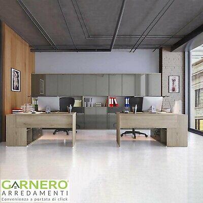 Arredo ufficio completo mobile TIME 22 rovere antracite studio moderno design