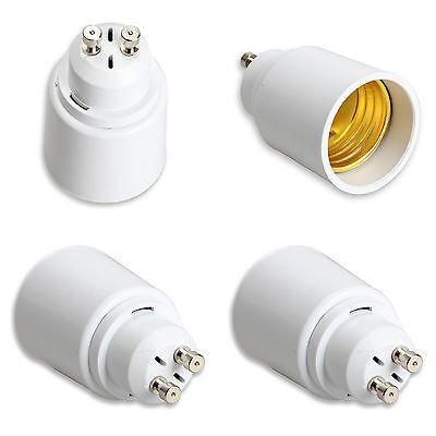 2x Casquillo Adaptador Conversor Convertidor GU10 para Bases E27 Luz Luces 4406
