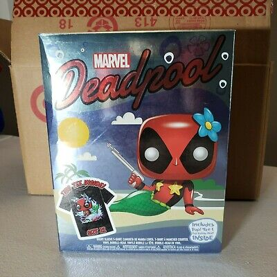 New Funko POP Deadpool Metallic Mermaid with T-Shirt Exclusive