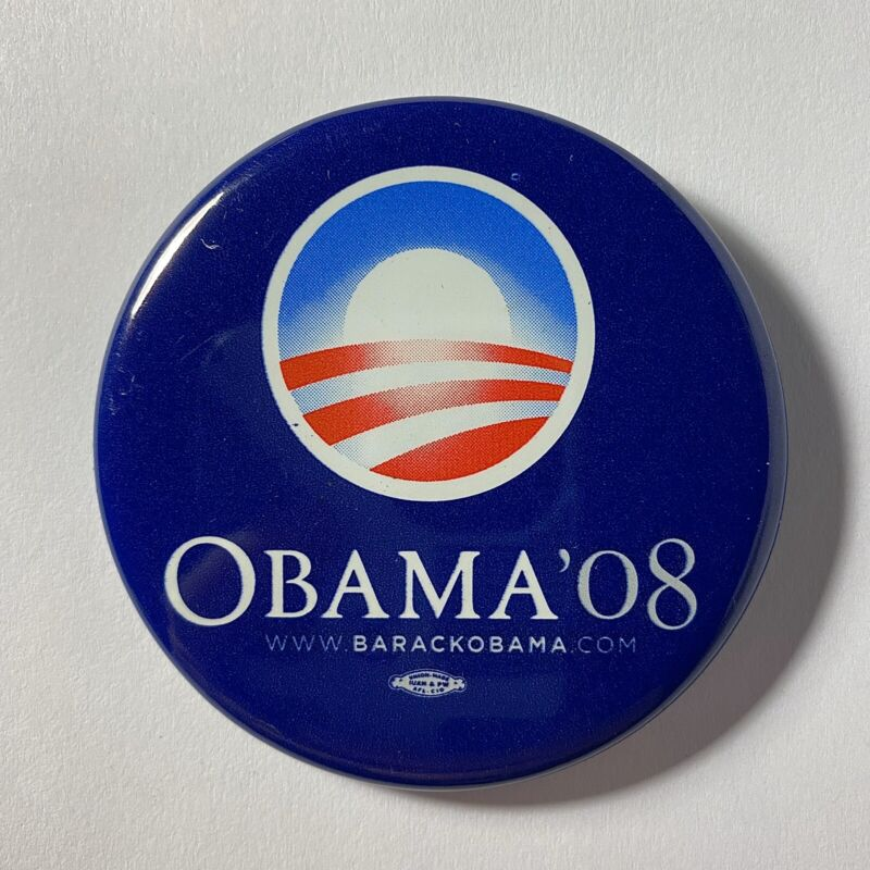 Official Barack Obama 2008 Presidential Campaign button pin MINT