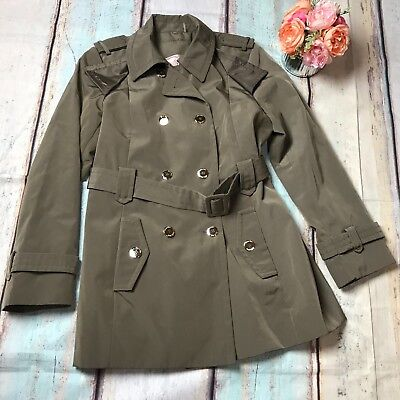 Calvin Klein LARGE light brown Dbl Breasted Belted Trench jacket Soft Shell Soft Shell Trench