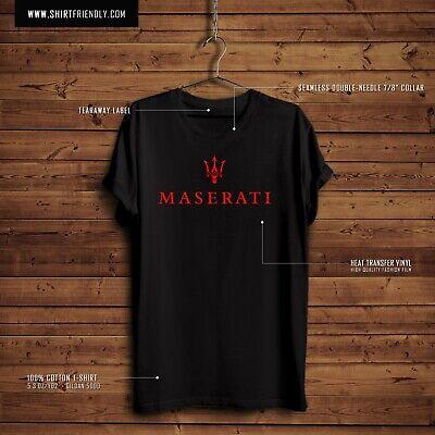 MASERATI LOGO GRAPHIC T - Mens Gildan 5000 - 5.3 oz 100% cotton T-Shirt. NEW!!