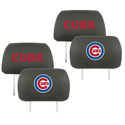 Chicago Cubs Mlb Set - New 2pc MLB Chicago Cubs Car Truck Suv Van Embroidered Headrest Covers Set
