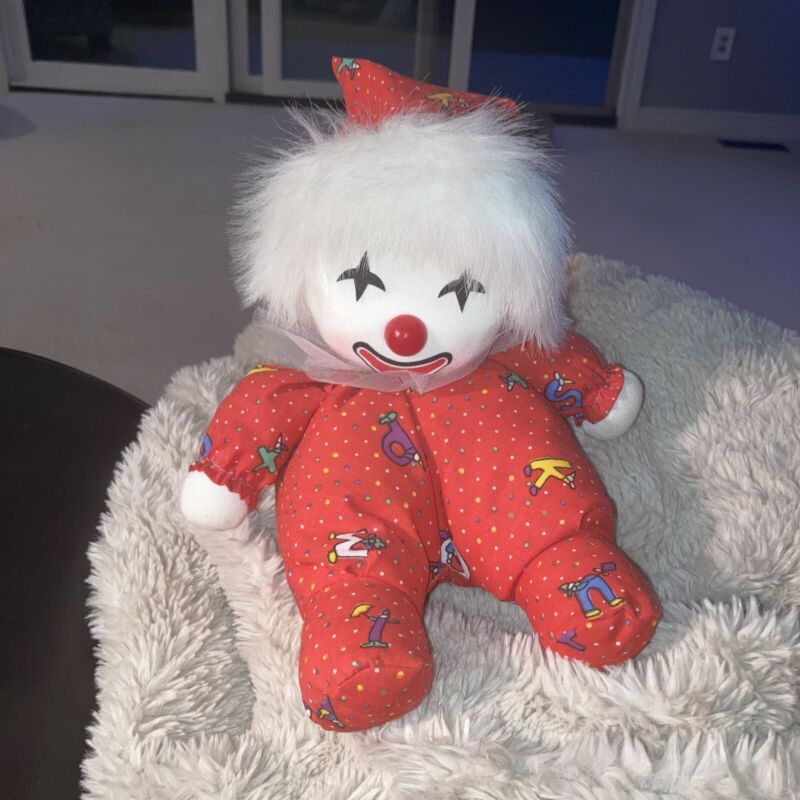 Vintage Poter Clown Doll Musical Song Moves Head Wind Up Vintage 1986