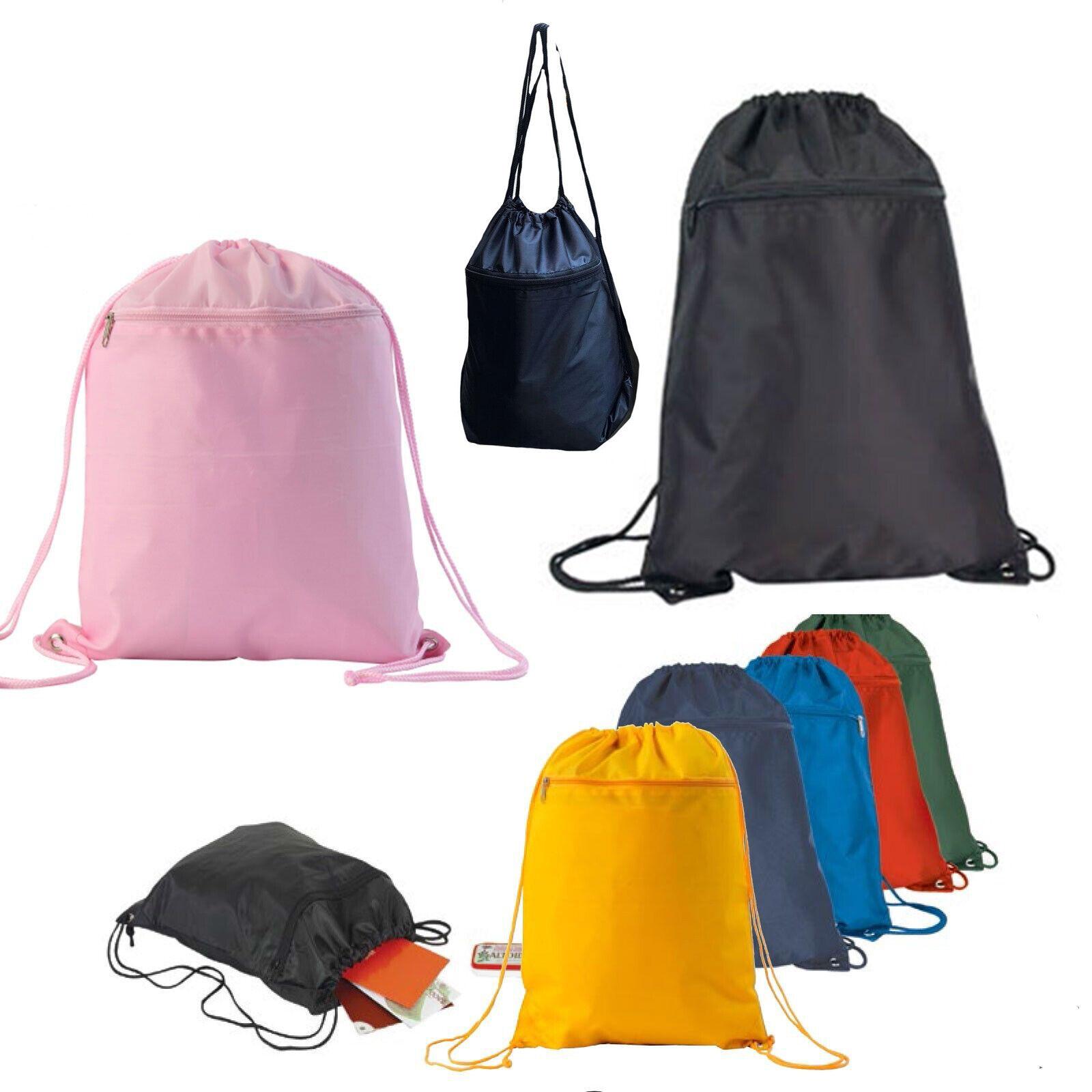 Drawstring Unisex Backpack Tote Sock Sack Pack Nylon Bag Dua