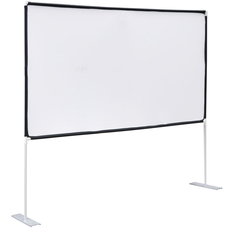 Projector Screen with Stand 100 inch 16:9 For Indoor Outdoor Home Theater Backy