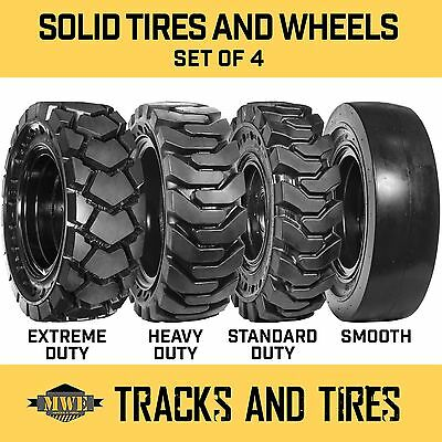 12-16.5 12x16.5 Flat-proof Solid Rubber Skid Steer Tires - Sd Hd Xd Or Smooth