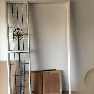 Entry door with lead light, door frame with lead light, Crimsafe. Camp Hill Brisbane South East Preview