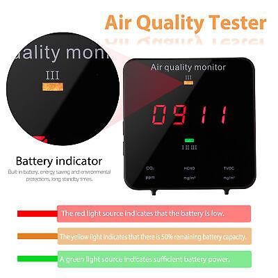 Co2 Meter Air Quality Monitor Formaldehyde Hcho Tvoc Aqi Digital Detector N4o2