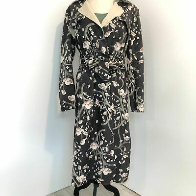 ANTHRO Solitaire Floral Vegan Suede Trench Coat