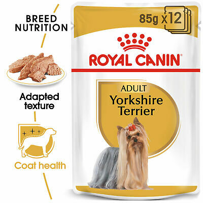 Royal Canin Yorkshire Terrier Adult Wet Dog Pouches 85g x 12 FAST DELIVERY