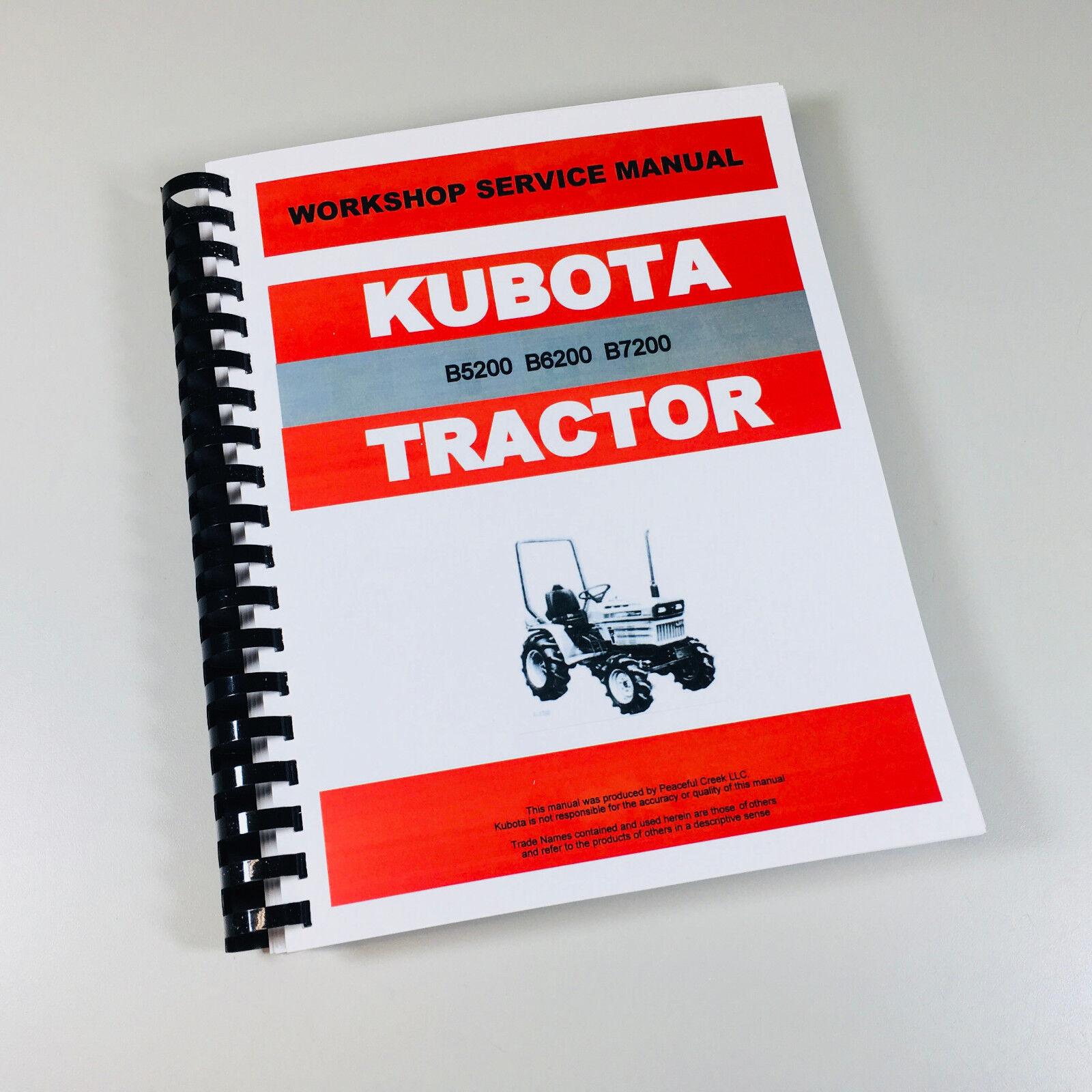 kubota b5200 b5200e b5200d tractor service repair manual technical rh ebay com Kubota B5200 Review Kubota B7500 Trencher