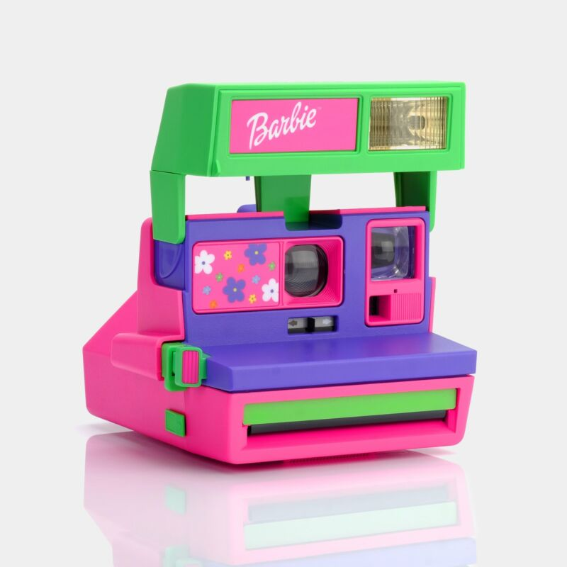 Polaroid 600 Barbie Throwback Instant Film Camera