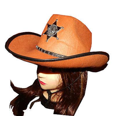 Wild west Cowboy Hat Costume Rodeo Sheriff Western lone ranger gunslinger - Lone Ranger Costume Western Cowboy Costumes