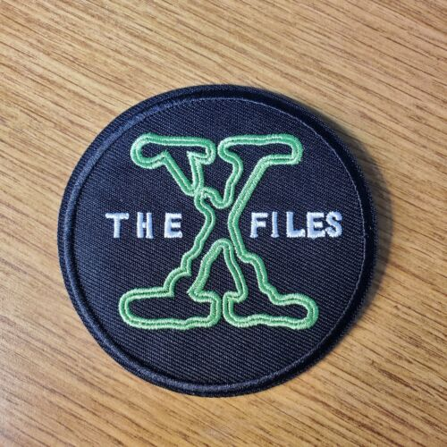 X files Logo embroidered Round  Patch 3 inches Wide