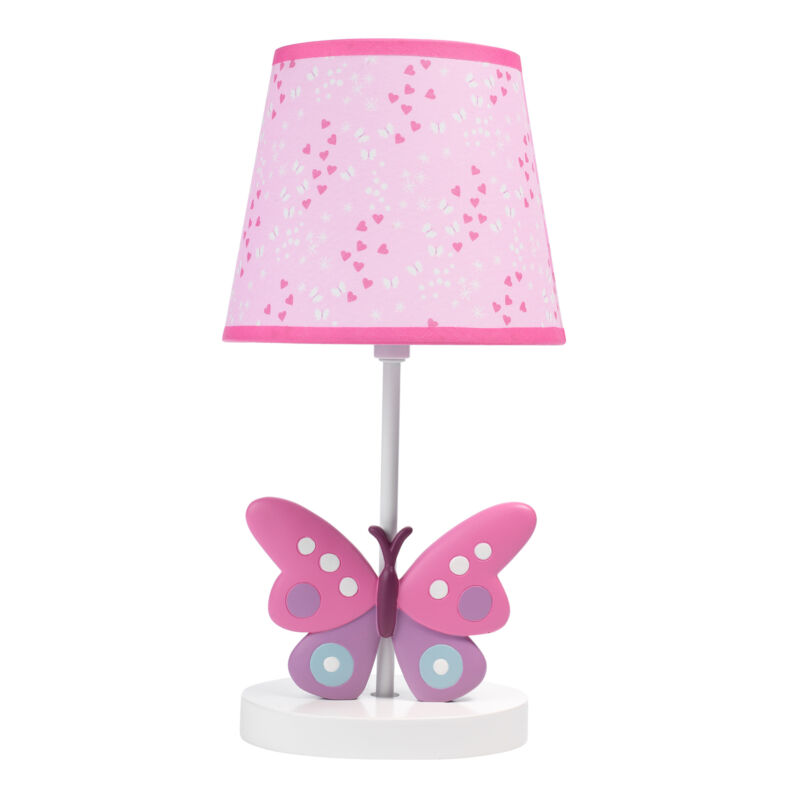 Bedtime Originals Magic Garden Pink/White Butterfly Lamp with Shade & Bulb