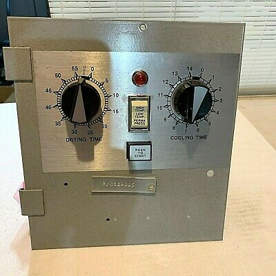 N824015 American Dryer Corp Adc Dual Timer Control Panel Pn 824015