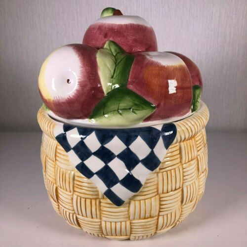 Certified International Corp Susan Winget APPLE BASKET Ceramic Cookie Jar