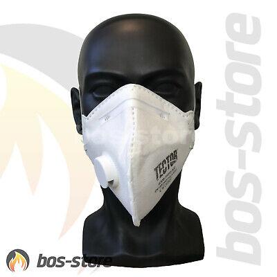TECTOR Atemschutzmaske FFP3 mit Ventil, Schutzmaske, EN149, Maske, FFP 3, P3 neu