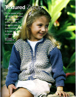 8 SWEATERS FOR KIDS to KNIT in WORSTED & SPORT WT YARN - BETTER HOMES & GARDENS