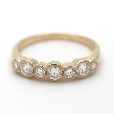 Memory Brillant Ring 750 Gold 0,70 Ct Diamant Ethernity 18 Kt Gelbgold Wert 2990