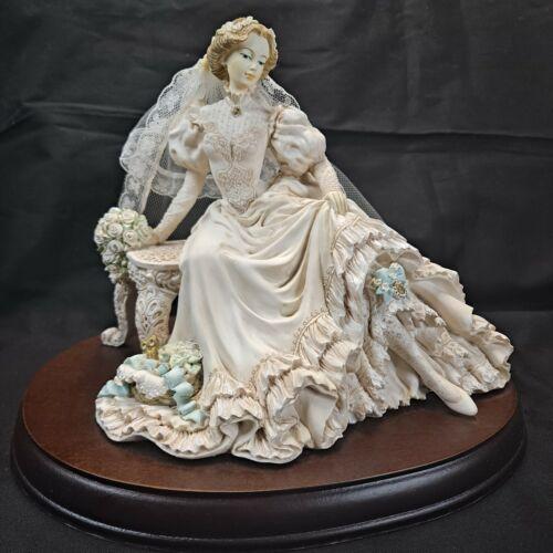 White Lace Promises Victorian Bride Something Blue RARE Vintage 1991 #1139/5000