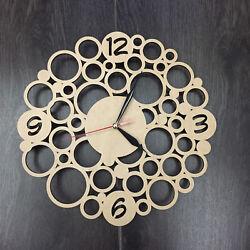 Contemporary Modern Unique Wooden Wall Clock Wall Art Silent Wall Clock CL-0001.