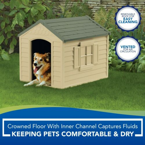 🌟 XL Dog Kennel for Large Dogs Outdoor Pet Insulated Cabin House Big Shelter