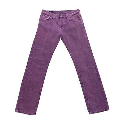 Gucci Skinny Jeans | Vintage Luxury High End Designer Purple Denim Trousers VTG