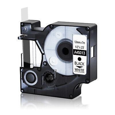 12mm Black On White 45013 Tape For Dymo D1 Label Maker Labelmanager 160 200 12