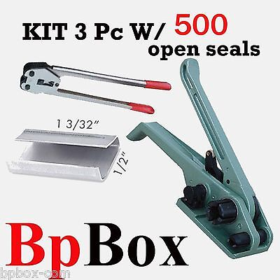 "500 open seal KIT5+ Strapping Poly Crimper +Tensioner and Cutter 1/2"" to 5/8"""